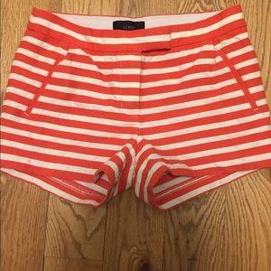 J Crew Orange and cream shorts